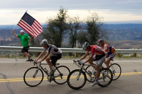 Palomar Mountain Runner with American Flag Pro Cycling Amgen Tour of California