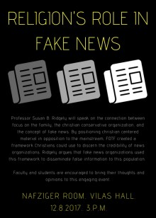 Religion's Role in Fake News
