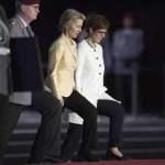 vl: General des Heeres der Bundeswehr Eberhard ZORN, Ursula VON DER LEYEN, Verteidigungsministerin Annegret KRAMP-KARRE