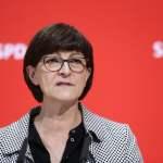 16.12.2019, Berlin, Deutschland – Pressekonferenz mit Saskia Esken und Norbert Walter-Borjans im Willy-Brandt-Haus in Be
