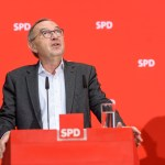 Pressekonferenz dem Parteivorsitzenden Norbert Walter-Borjans im Berliner Willy-Brandt-Haus nach der Sitzung des Parteiv