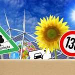 FOTOMONTAGE, Paket mit Klimaschutzmaßnahmen *** PHOTO MOUNTING, package with climate protection measures