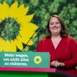 Ricarda LANG, Kandidatin fuer das Amt der stellv. Bundesvorsitzenden Buendnis 90/die Gruenen, bei ihrer Rede, 44. Ordent