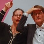 DEU, Deutschland, Nordrhein-Westfalen, Duisburg, 06.10.2019: Auf einer SPD-Regionalkonferenz stellen sich die Bewerberi