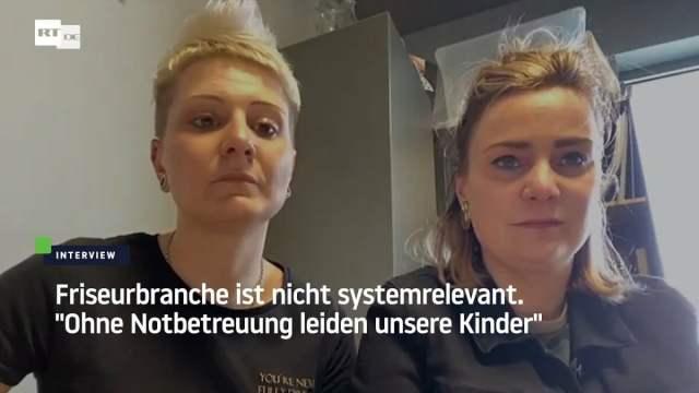 """Friseurinnen: """"Wir machen einen Spagat zwischen Haushalt, Homeschooling und Beruf""""; Bild: Startbild Youtube"""