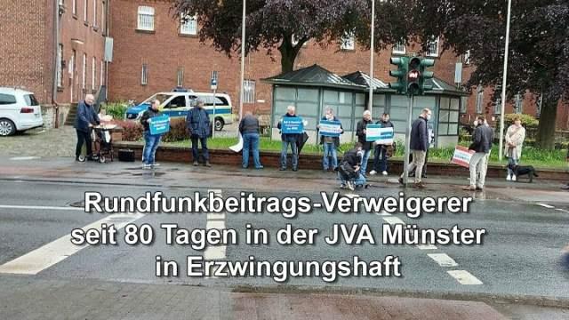 Rundfunkbeitrags-Verweigerer seit 80 Tagen in Erzwingunghaft; Bild: Startbild Youtube