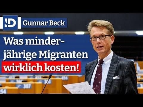 G. Beck   Was minderjährige Migranten wirklich kosten!; Bild: Startbild Youtube