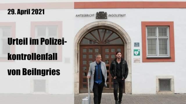 Urteil im Polizeikontrollenfall von Beilngries; Foto: Startbild Youtube