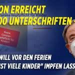 Petition gegen Kinder-Impfpflicht erreicht 690.000 Unterschriften– Lambrecht will keinen Zwang; Bild: Startbild Youtube