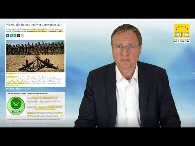 Michael Stürzenberger erklärt die Ideologie der Hamas und die Auswirkungen auf Deutschland; Bild: Startbild Youtube