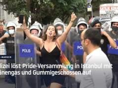 Polizei löst Pride-Versammlung in Istanbul mit Tränengas und Gummigeschossen auf; Bild: Startbild Youtube RT DE