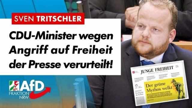 CDU-Minister wegen Angriff auf Pressefreiheit verurteilt! – Sven Tritschler; Bild: Startbild Youtube