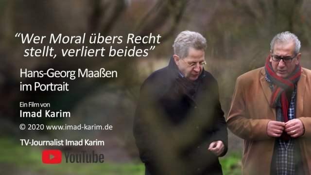 Regisseur Imad Karim im Gespräch mit Hans-Georg Maaßen; Bild: Startbild Youtube