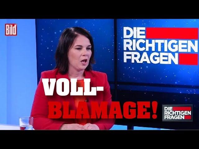 Annalena Baerbock kam, sah und versagte!; Bild: Startbild Youtube