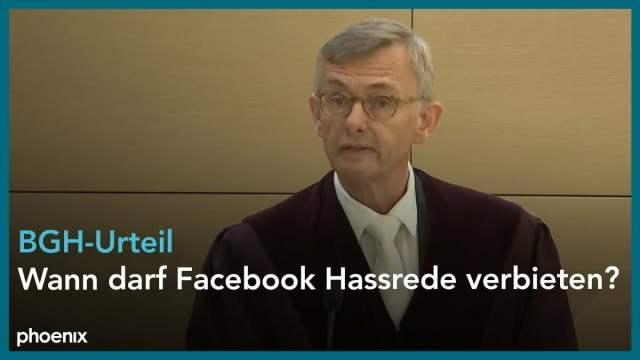 BGH: Wann darf Facebook Hassrede verbieten?; Bild: Startbild Youtubevideo poenix
