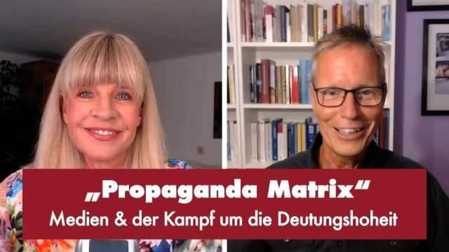 """Propaganda Matrix"" - Punkt.PRERADOVIC mit Prof. Dr. Michael Meyen; Bild: Startbild Youtubevideo"