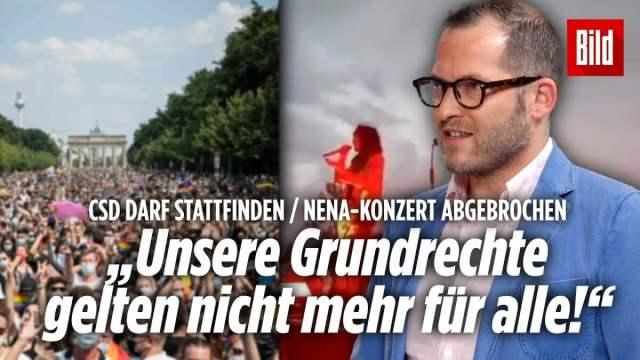 """Nena-Konzert abgebrochen: Ordnungsamt ist eine """"Rechthaber-Organisation""""   Julian Reichelt; Bild: Startbild Youtubevideo Bild"""