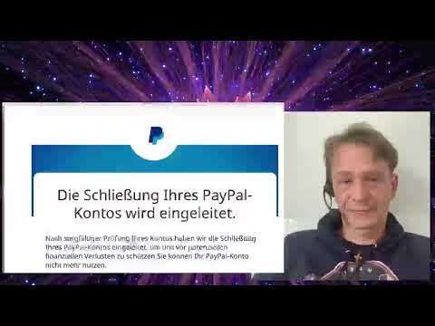 Dr. Bodo Schiffmann - Paypal behält komplettes Geld aus Flutopfer-Moneypool für 180 Tage + schließt Konto!; Bild: Startbild Youtubevideo
