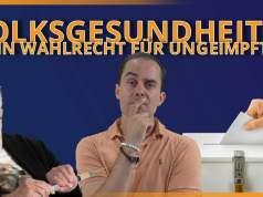 Volksgesundheit !!! Wahlrecht nur noch für Geimpfte !!! Satire oder Debattenraum?; Bild: Startbild Youtubevideo Samuel Eckert