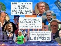 Mediziner und Wissenschaftler klären auf heute LIVE in Leipzig; Bild: Startbild Youtubevideo