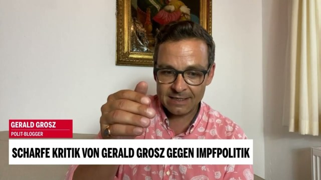 """Wenn """"Verschwörungstheorien"""" plötzlich Realität werden   Gerald Grosz; Bild: Startbild Youtubevideo OE24"""
