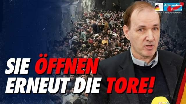 Nichts aus 2015 gelernt! - Gottfried Curio zu Plänen der Altparteien; Bild: Startbild Youtubevideo AfD-Fraktion im Bundestag