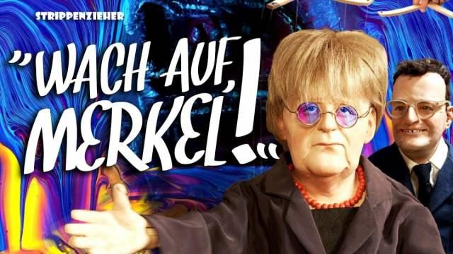Wach auf, Merkel! | Der Corona-Albtraum endet wohl nie | Strippenzieher; Bild: Startbild Youtubevideo RT DE