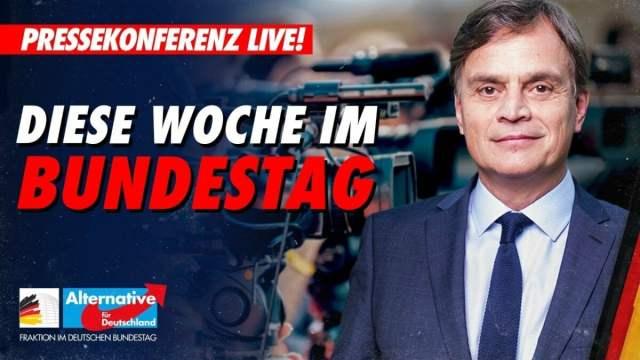 PK der AfD vor der Bundestagssitzung; Bild: Startbild Youtubevideo AfD im Bundestag