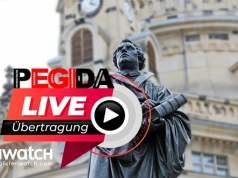 PEGIDA LIVE aus Dresden; Bild: © jouwatch