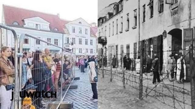 Zäune, um angebliche Krankheitsüberträger auszugrenzen heute und damals...; Bilder: Quelle