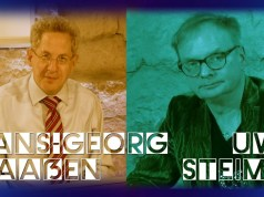 Uwe Steimle & Hans-Georg Maaßen am Dialekt-Tisch; Bild: Startbild Youtubevideo