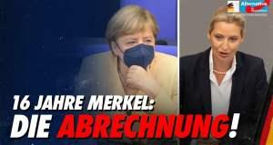 Aufruhr im Bundestag, als Alice Weidel mit Merkels Regierungspolitik abrechnet!; Bild: Startbild Youtubevideo AfD im Bundestag