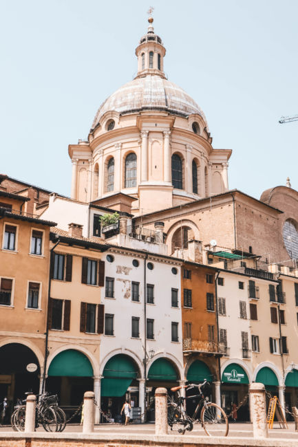 colourful houses in mantova italy