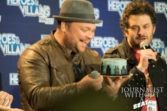 Drew Powell is given a Birthday cake