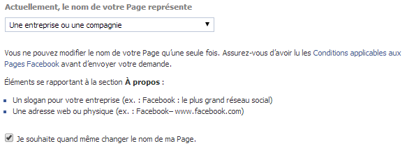 demander changement de nom page facebook-2