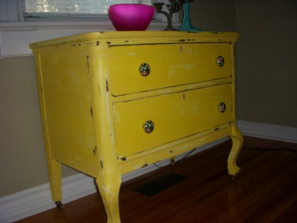 Yellow Awesome Dresser