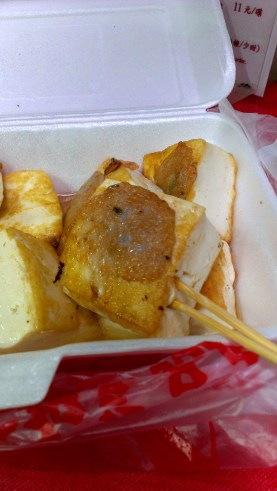 Stuffed tofu in food cart