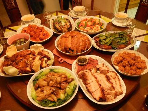 Typical family CNY meal