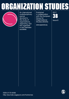 Cover image for latest issue of Organization Studies