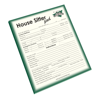 House Sitter Notepad