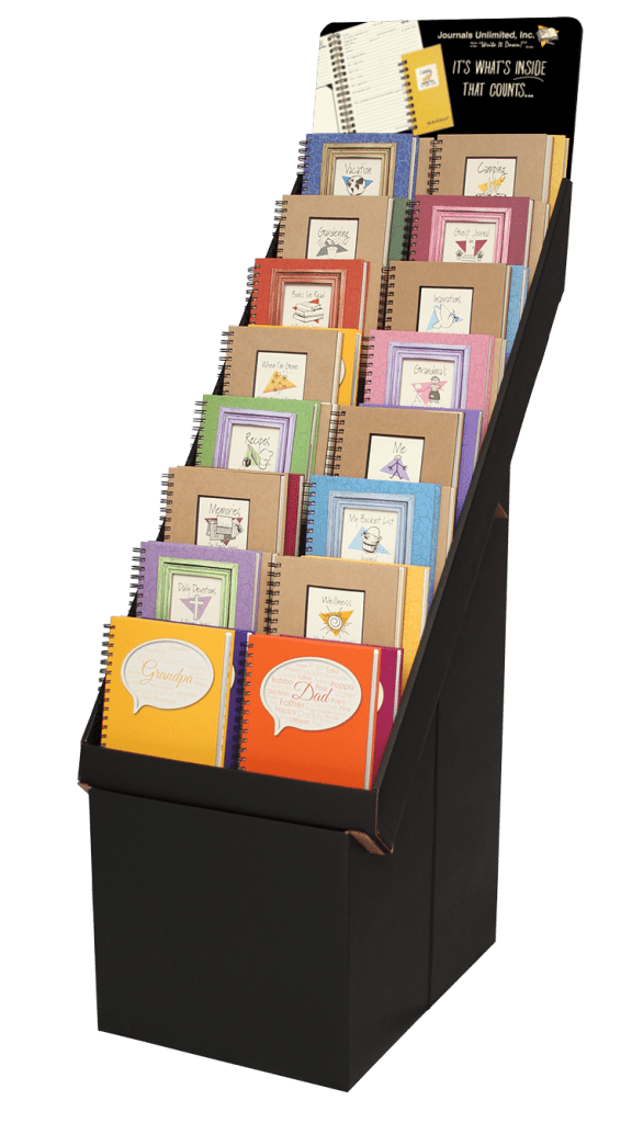 themed guided journal display