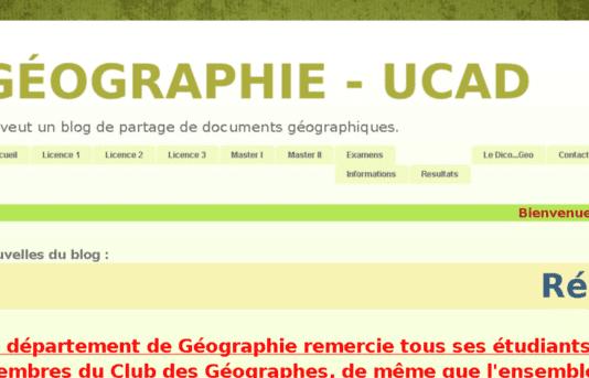le blog spot du département de géographie