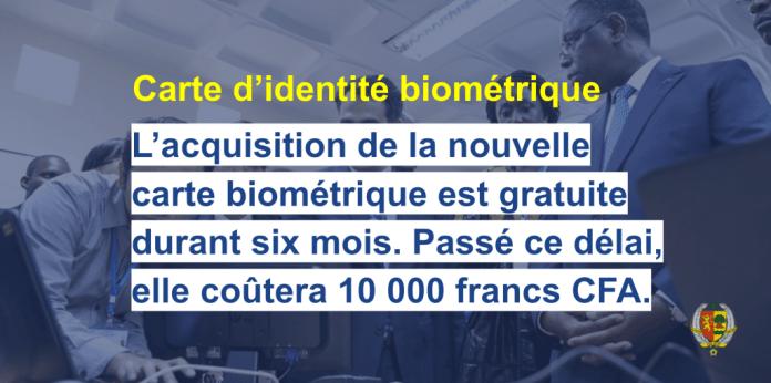 La carte biométrique CEDEAO