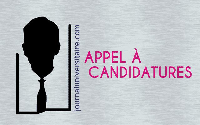 Appel à candidature/Appel à candidatures pour une admission en thèse/Appel à candidatures pour le recrutement d'une secrétaire de direction/Recrutement d'étudiants pour l'année 2017-2018/Recrutement de deux assistants