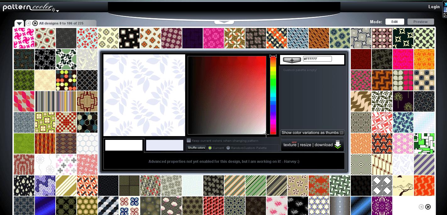Seamless Website Pattern Background Designs