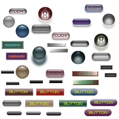 Free GIMP Button Brushes