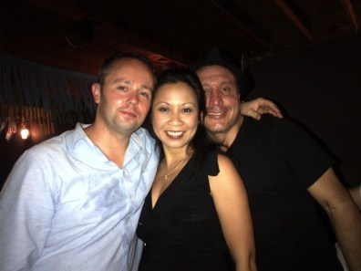 My Leaving Party at Boteco's Miami. Me, Vicky and Carlos