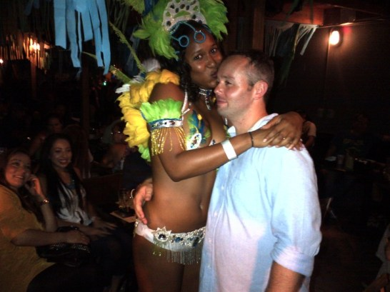 My Leaving Party at Boteco's Miami. Me and a fun dancer
