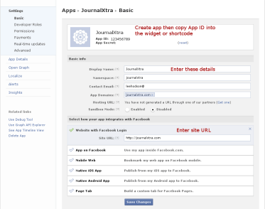 Creating Your Facebook App to Make an Invite Friends Button for WordPress