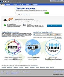 Alexa Internet Screenshot Courtesy of Wikepedia